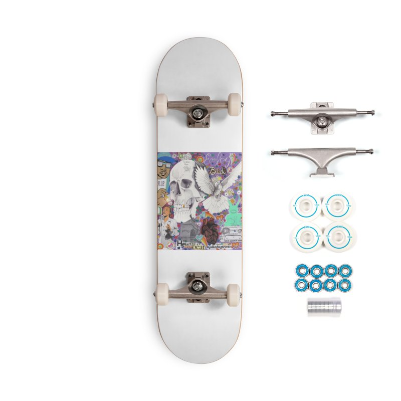 Heartbeat Photogenic Accessories Skateboard by birdboogie's Artist Shop