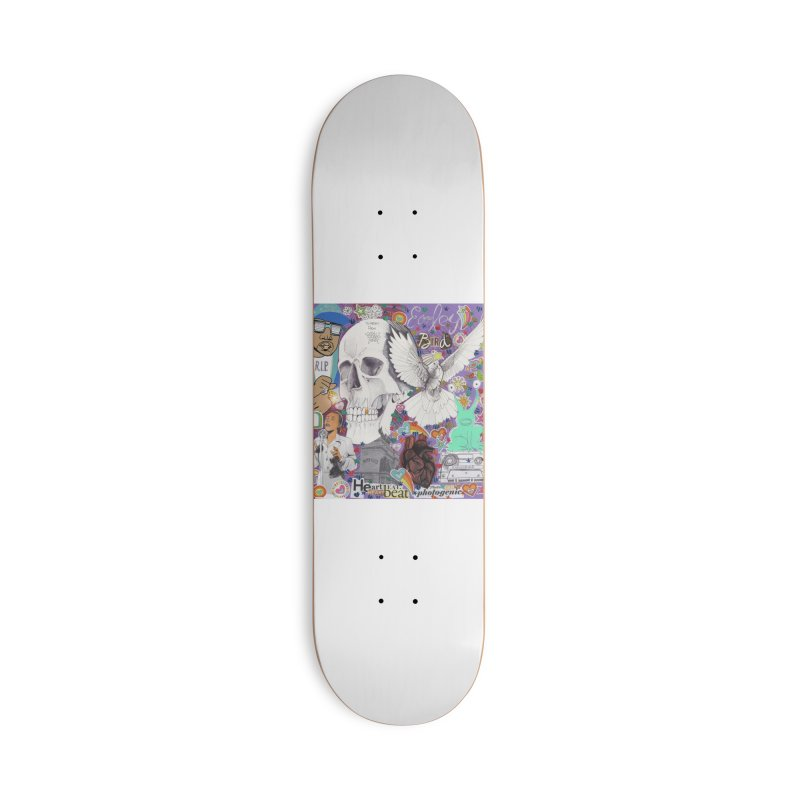 Heartbeat Photogenic Accessories Skateboard by birdboogie's Artist Shop