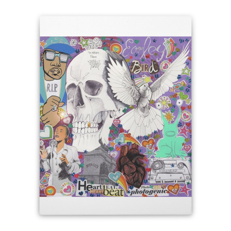 Heartbeat Photogenic Home Stretched Canvas by birdboogie's Artist Shop
