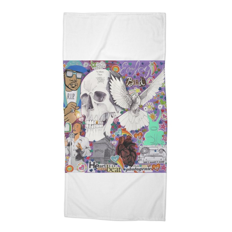 Heartbeat Photogenic Accessories Beach Towel by birdboogie's Artist Shop