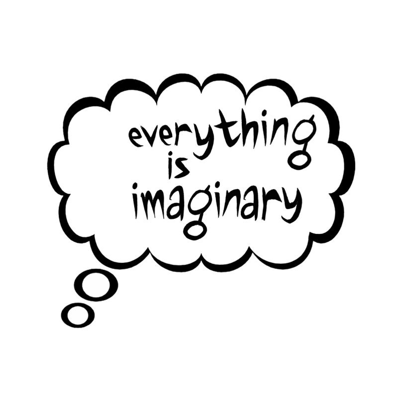 Everything Is Imaginary Thought Bubble Home Blanket by birdboogie's Artist Shop