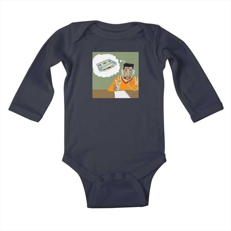 Mad Squirrel Kids Baby Longsleeve Bodysuit by birdboogie's Artist Shop
