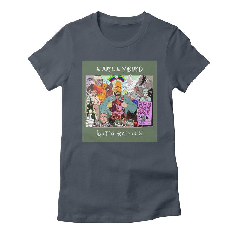 BIRD GENIUS Women's T-Shirt by birdboogie's Artist Shop
