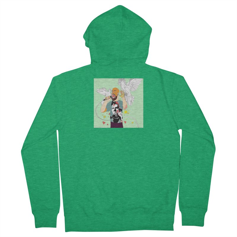 EVERY RAPPER IS A GENIUS Men's Zip-Up Hoody by birdboogie's Artist Shop