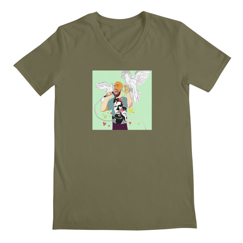 EVERY RAPPER IS A GENIUS Men's V-Neck by birdboogie's Artist Shop