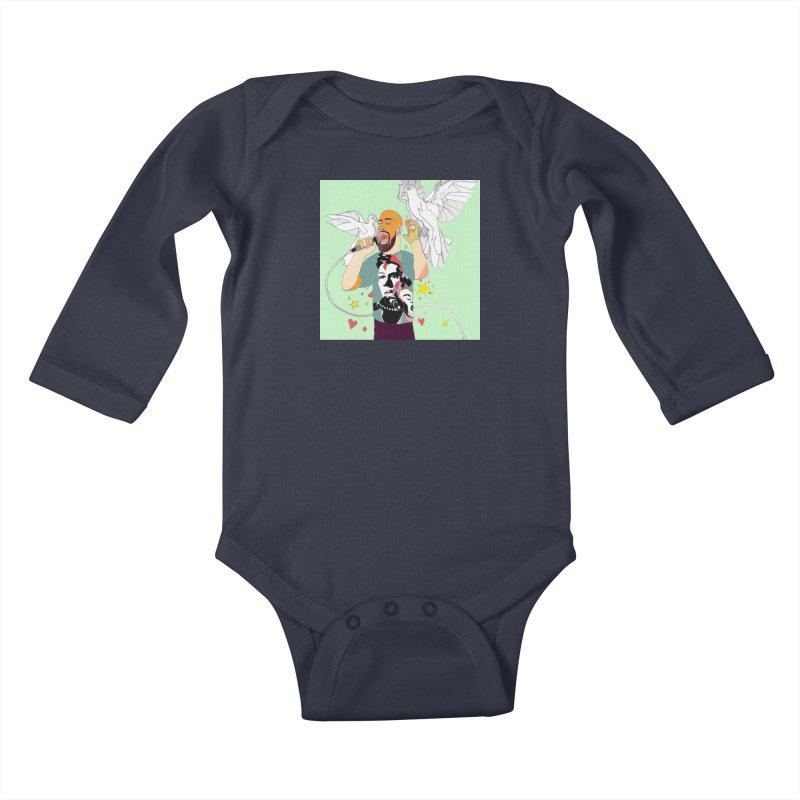 EVERY RAPPER IS A GENIUS Kids Baby Longsleeve Bodysuit by birdboogie's Artist Shop