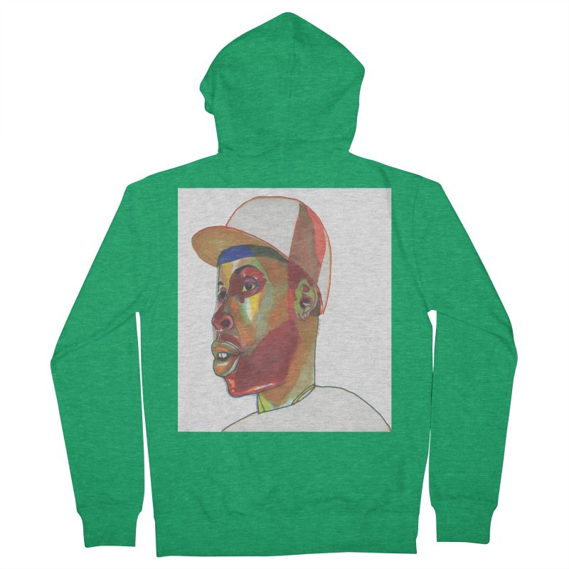 JDILLA Men's French Terry Zip-Up Hoody by birdboogie's Artist Shop