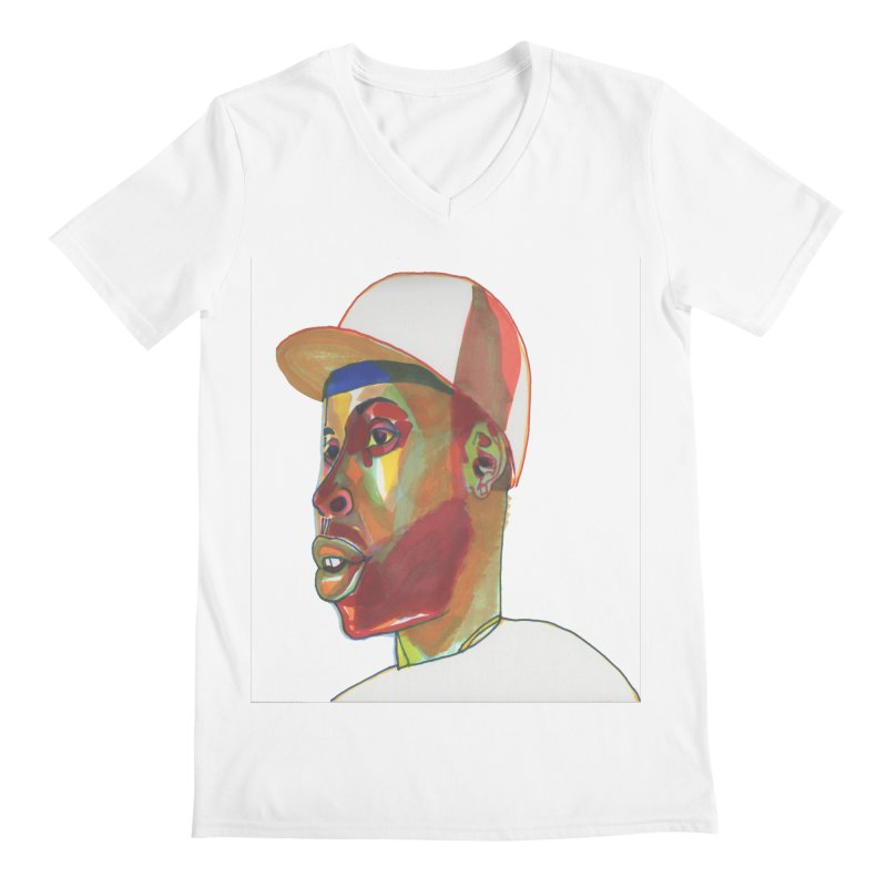JDILLA Men's V-Neck by birdboogie's Artist Shop