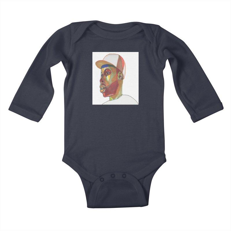JDILLA Kids Baby Longsleeve Bodysuit by birdboogie's Artist Shop