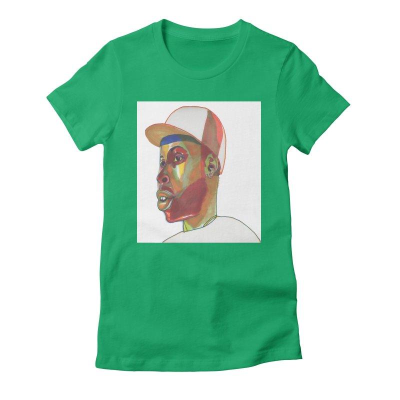 JDILLA Women's Fitted T-Shirt by birdboogie's Artist Shop