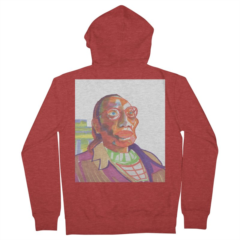 Nathan Phillips Men's French Terry Zip-Up Hoody by birdboogie's Artist Shop