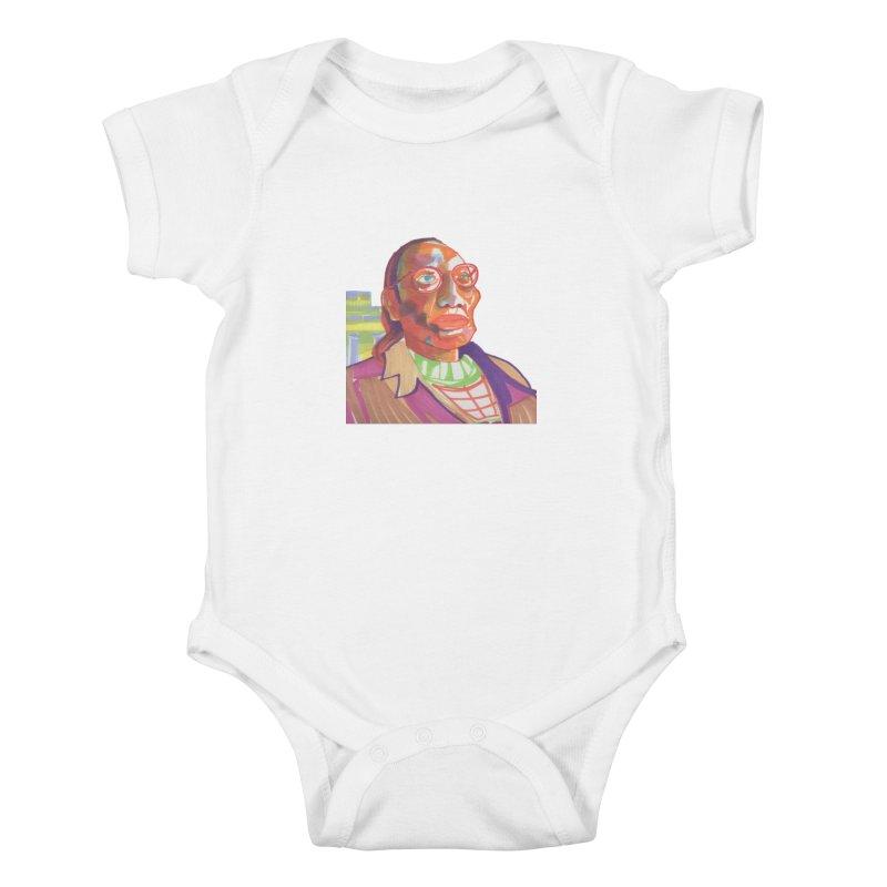 Nathan Phillips Kids Baby Bodysuit by birdboogie's Artist Shop