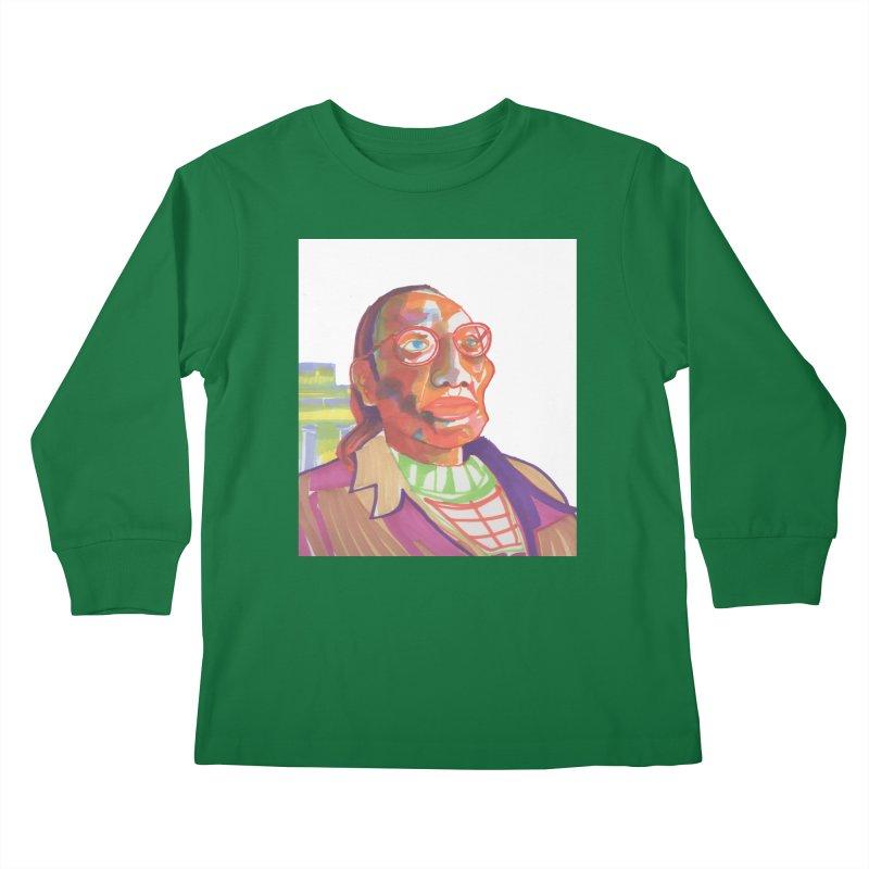 Nathan Phillips Kids Longsleeve T-Shirt by birdboogie's Artist Shop