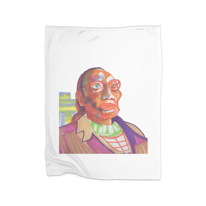 Nathan Phillips Home Fleece Blanket Blanket by birdboogie's Artist Shop