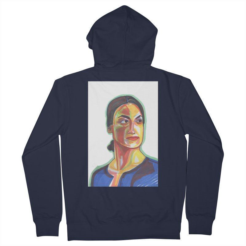 AOC Men's French Terry Zip-Up Hoody by birdboogie's Artist Shop