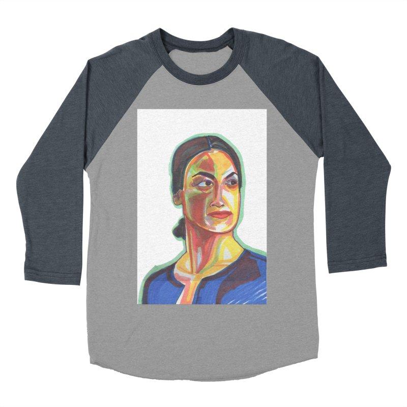 AOC Women's Baseball Triblend Longsleeve T-Shirt by birdboogie's Artist Shop