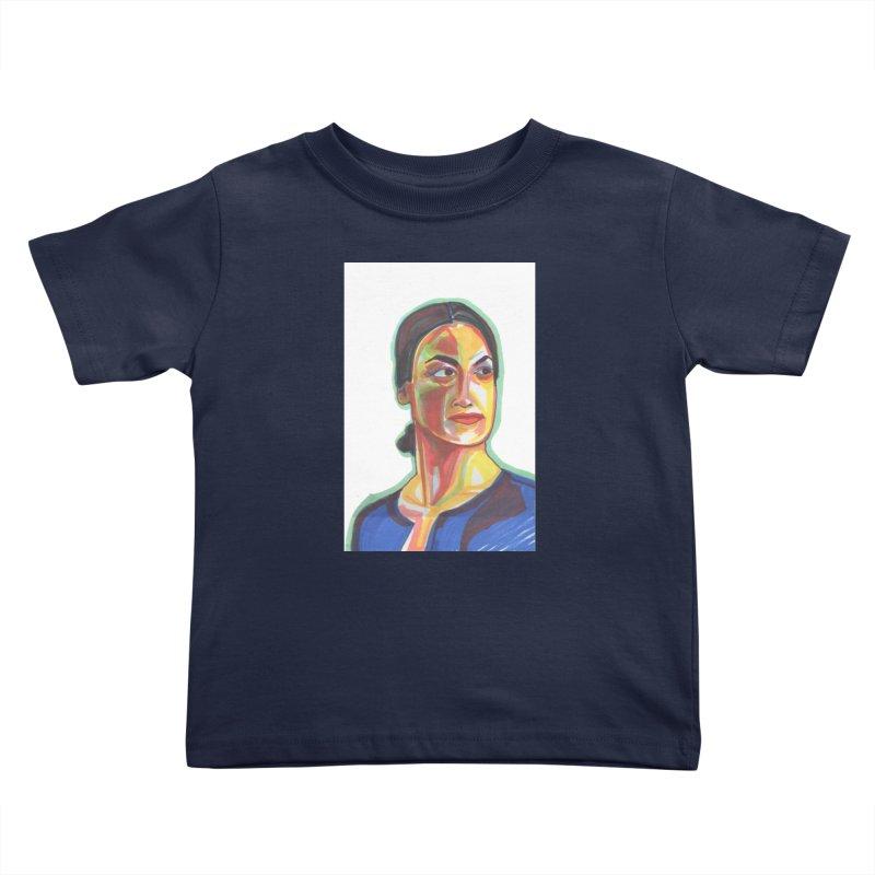 AOC Kids Toddler T-Shirt by birdboogie's Artist Shop