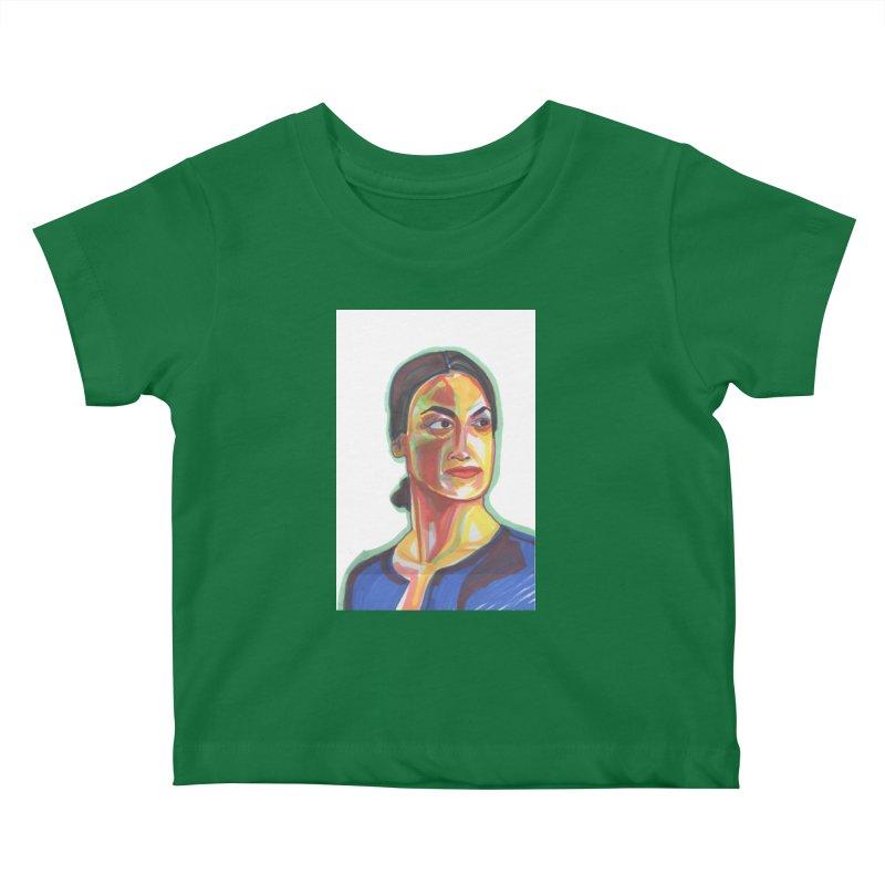 AOC Kids Baby T-Shirt by birdboogie's Artist Shop