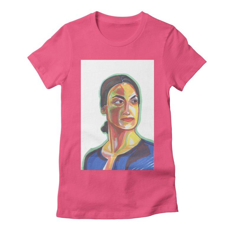 AOC Women's Fitted T-Shirt by birdboogie's Artist Shop