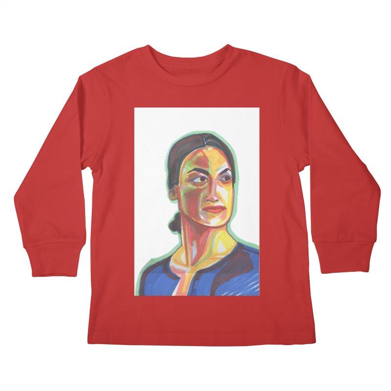 AOC Kids Longsleeve T-Shirt by birdboogie's Artist Shop