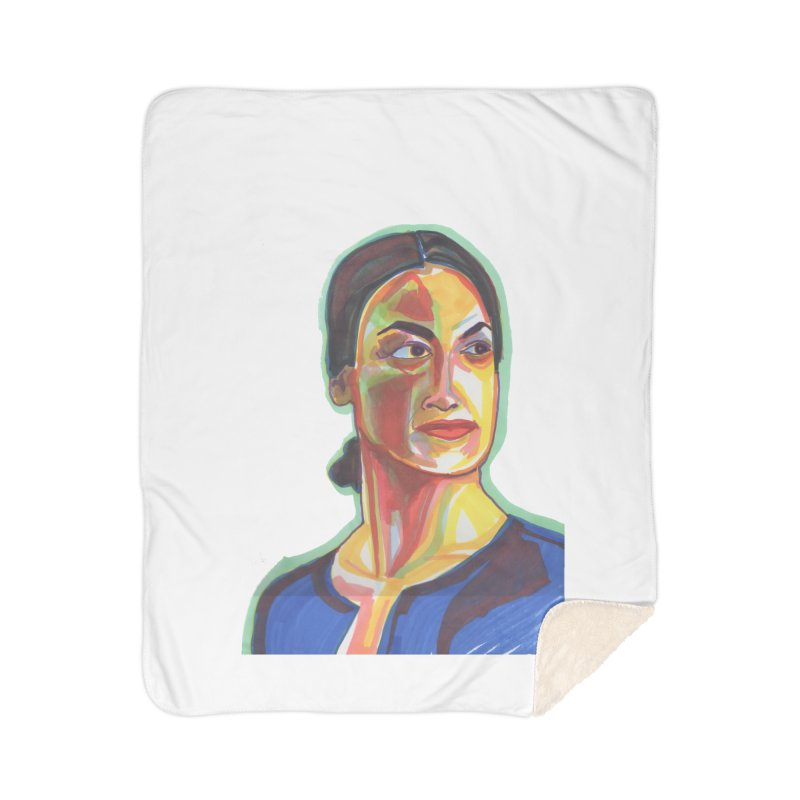 AOC Home Sherpa Blanket Blanket by birdboogie's Artist Shop