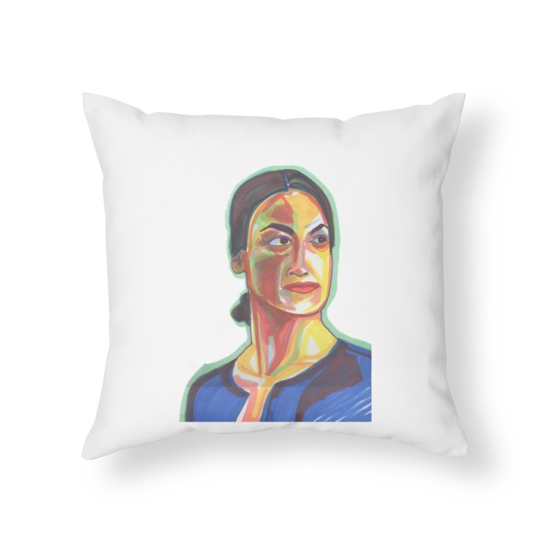 AOC Home Throw Pillow by birdboogie's Artist Shop