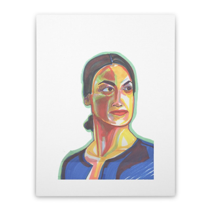 AOC Home Stretched Canvas by birdboogie's Artist Shop
