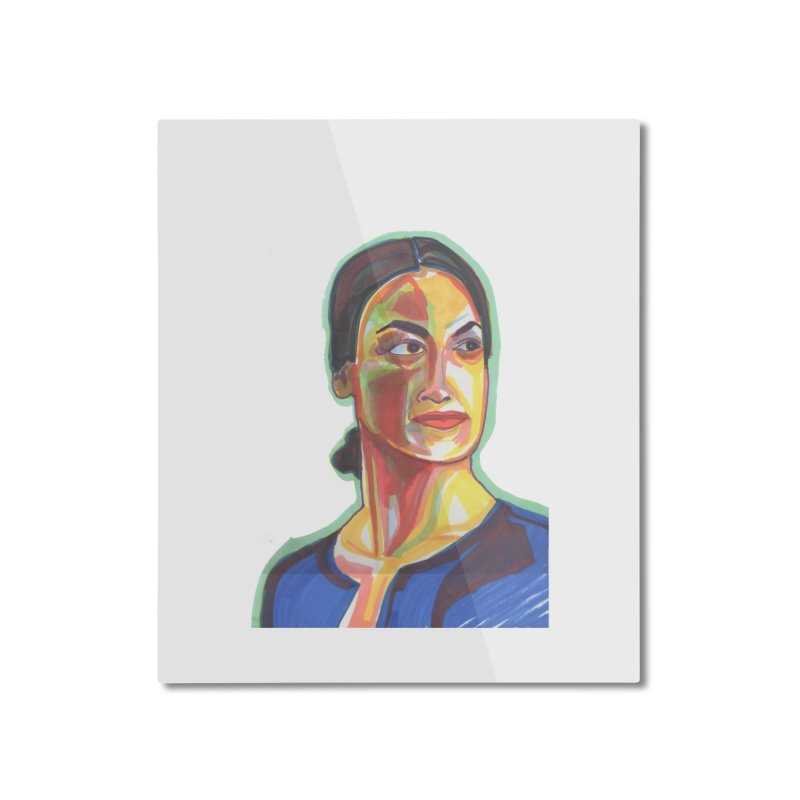 AOC Home Mounted Aluminum Print by birdboogie's Artist Shop