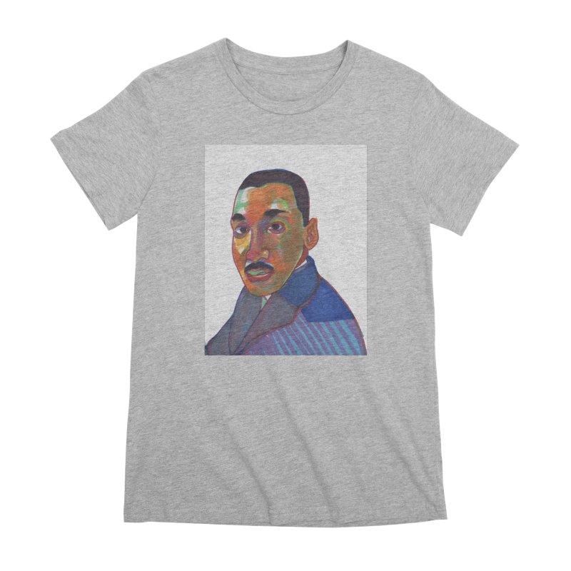 MLK Women's Premium T-Shirt by birdboogie's Artist Shop