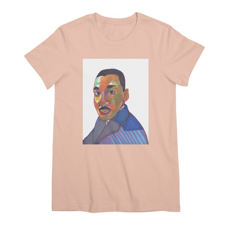 MLK Women's Premium T-Shirt by birdboogie's Artist Shop