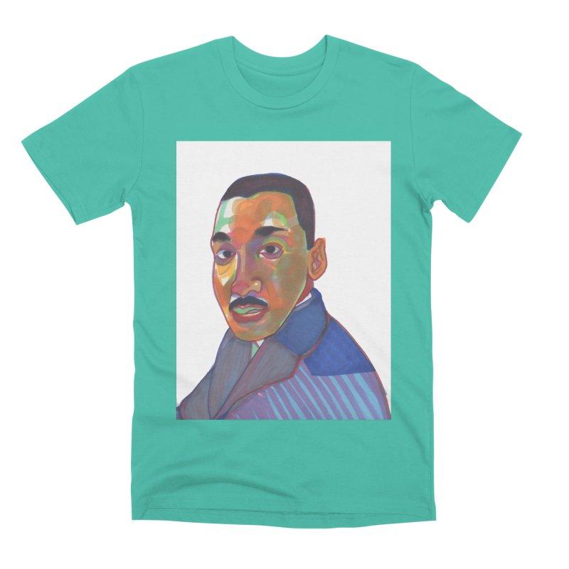 MLK Men's Premium T-Shirt by birdboogie's Artist Shop