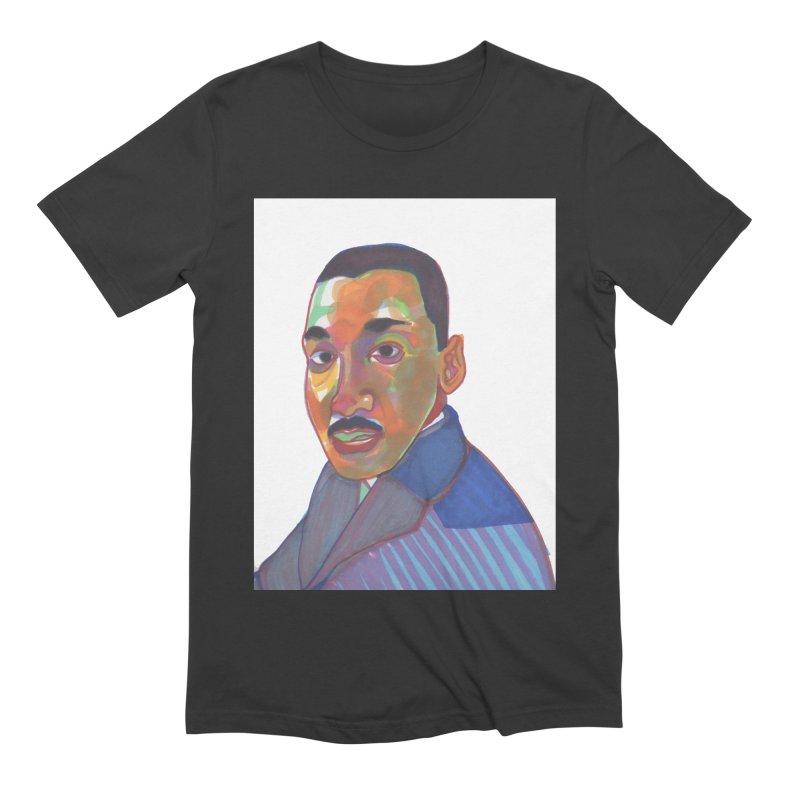 MLK Men's Extra Soft T-Shirt by birdboogie's Artist Shop