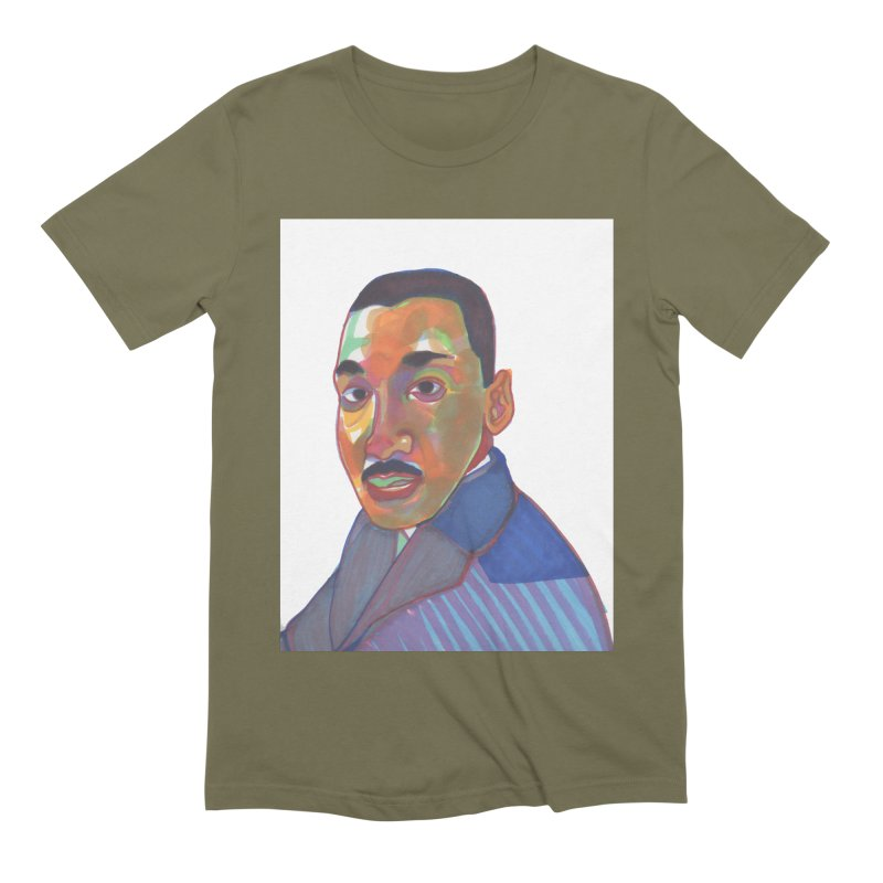 MLK Men's Extra Soft T-Shirt by birdboogie's Artist Shop