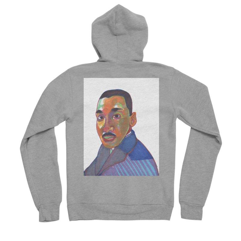 MLK Women's Sponge Fleece Zip-Up Hoody by birdboogie's Artist Shop