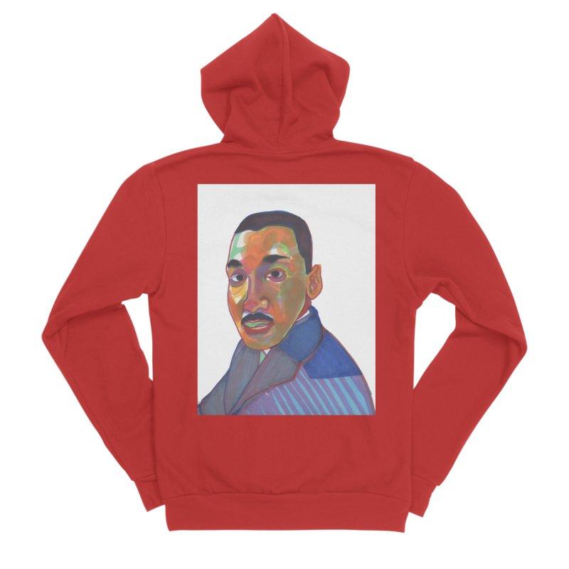 MLK Men's Zip-Up Hoody by birdboogie's Artist Shop