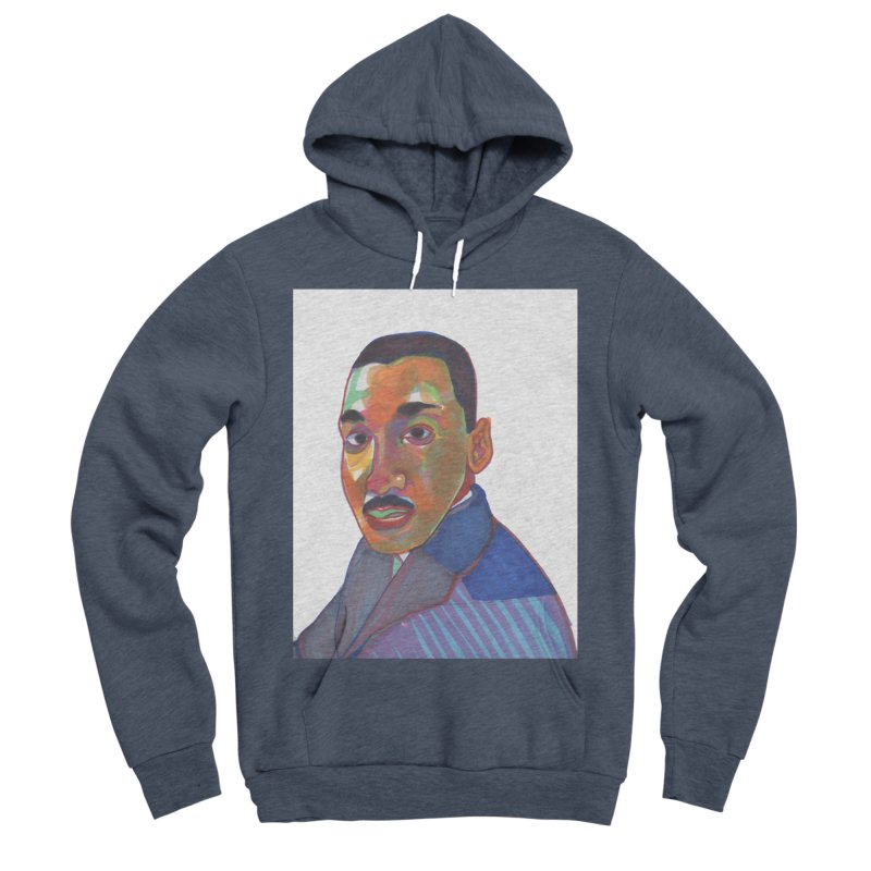 MLK Women's Sponge Fleece Pullover Hoody by birdboogie's Artist Shop