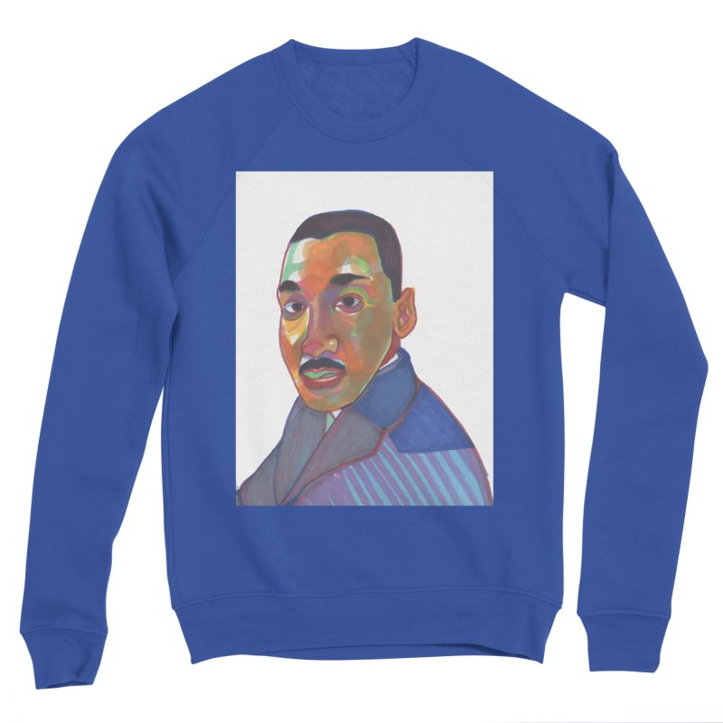 MLK Men's Sponge Fleece Sweatshirt by birdboogie's Artist Shop