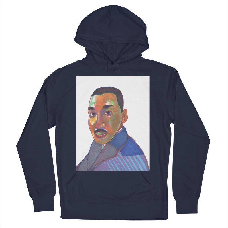 MLK Men's French Terry Pullover Hoody by birdboogie's Artist Shop