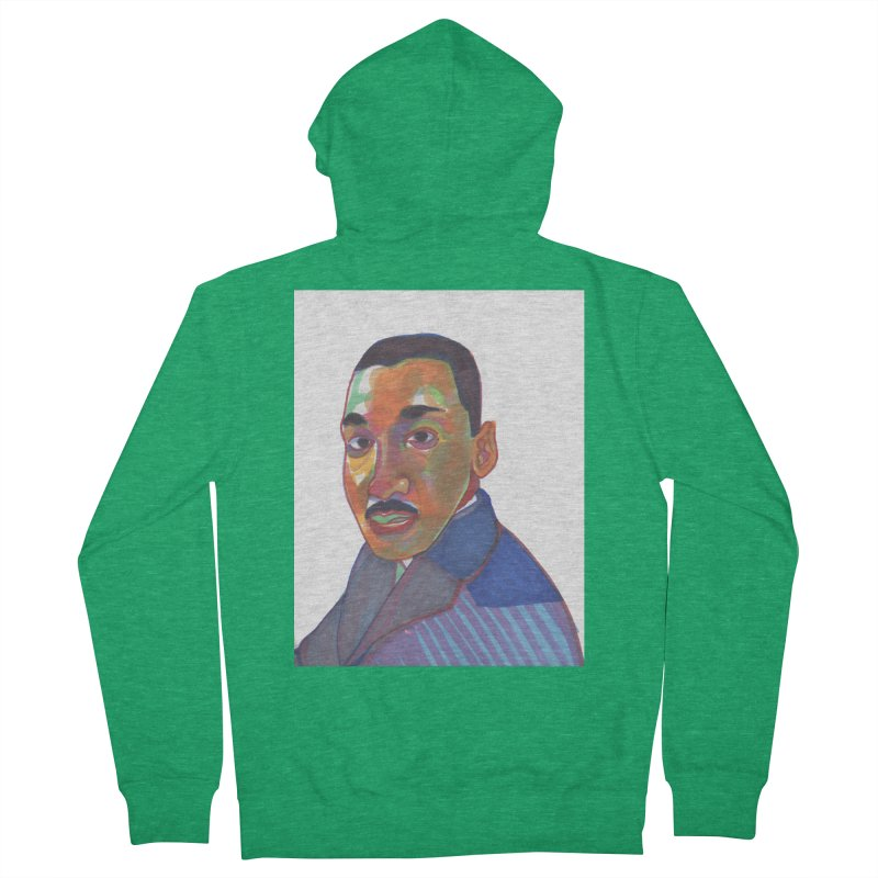 MLK Women's Zip-Up Hoody by birdboogie's Artist Shop