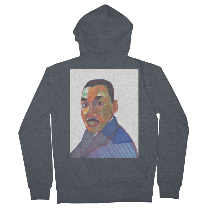 MLK Men's French Terry Zip-Up Hoody by birdboogie's Artist Shop
