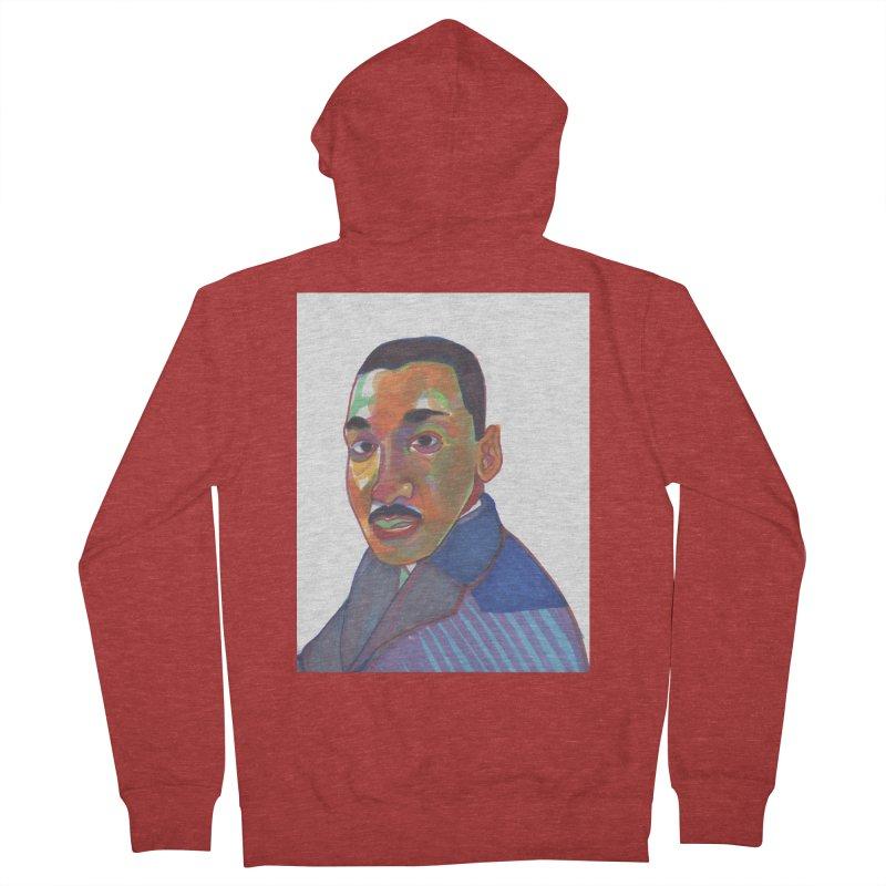 MLK Men's French Terry Zip-Up Hoody by birdboogie's Artist Shop