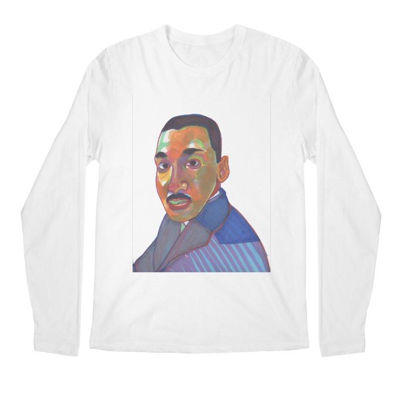 MLK Men's Regular Longsleeve T-Shirt by birdboogie's Artist Shop
