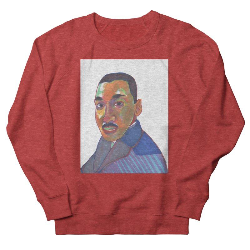 MLK Men's French Terry Sweatshirt by birdboogie's Artist Shop