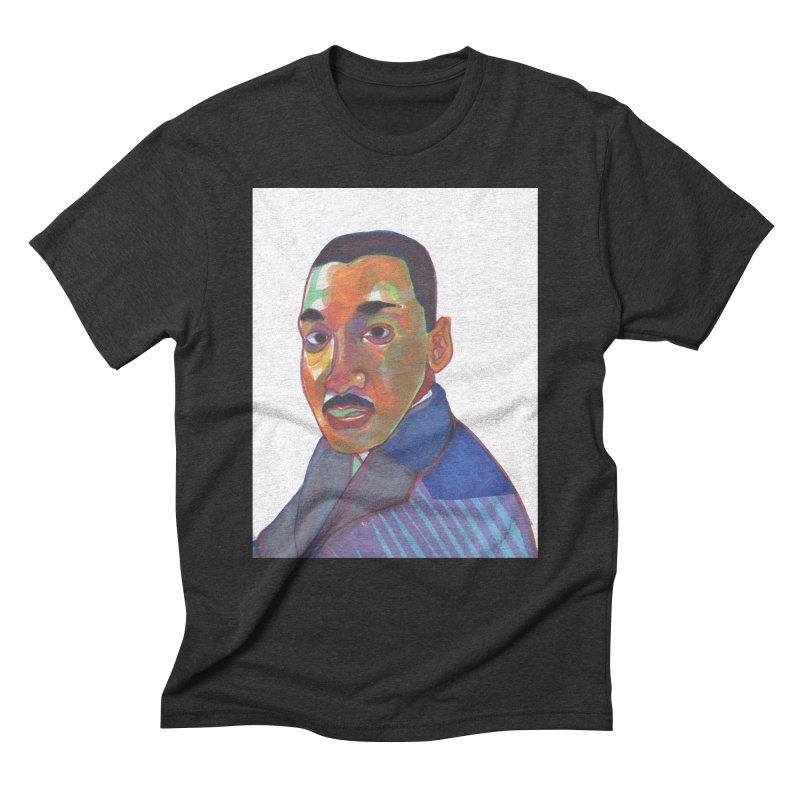 MLK Men's Triblend T-Shirt by birdboogie's Artist Shop