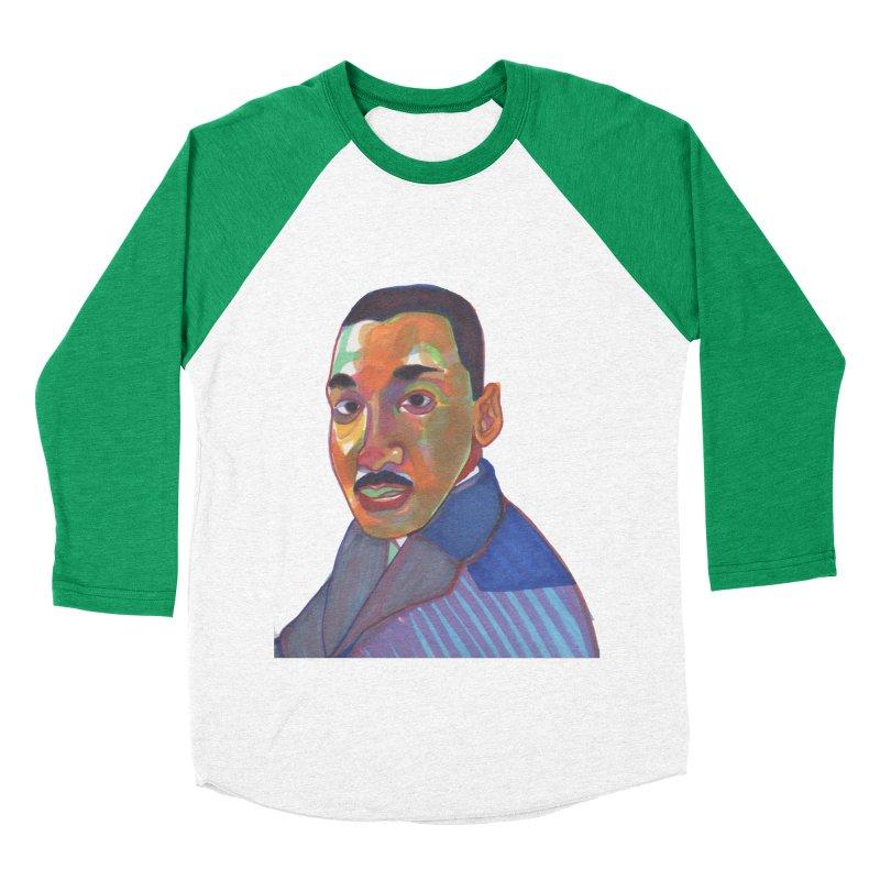 MLK Women's Baseball Triblend Longsleeve T-Shirt by birdboogie's Artist Shop
