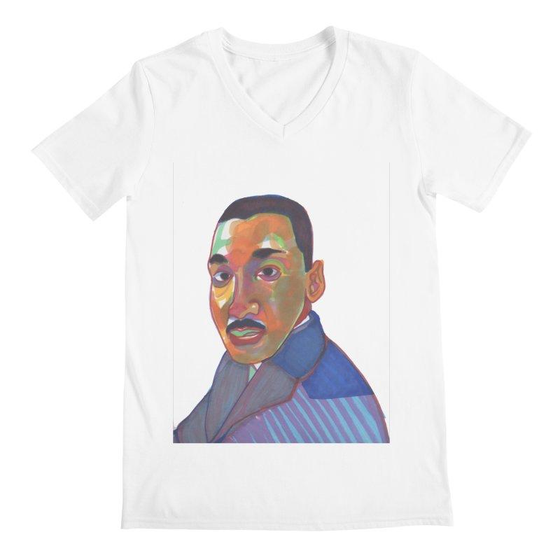 MLK Men's V-Neck by birdboogie's Artist Shop