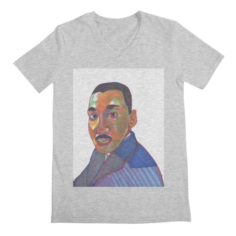 MLK Men's Regular V-Neck by birdboogie's Artist Shop