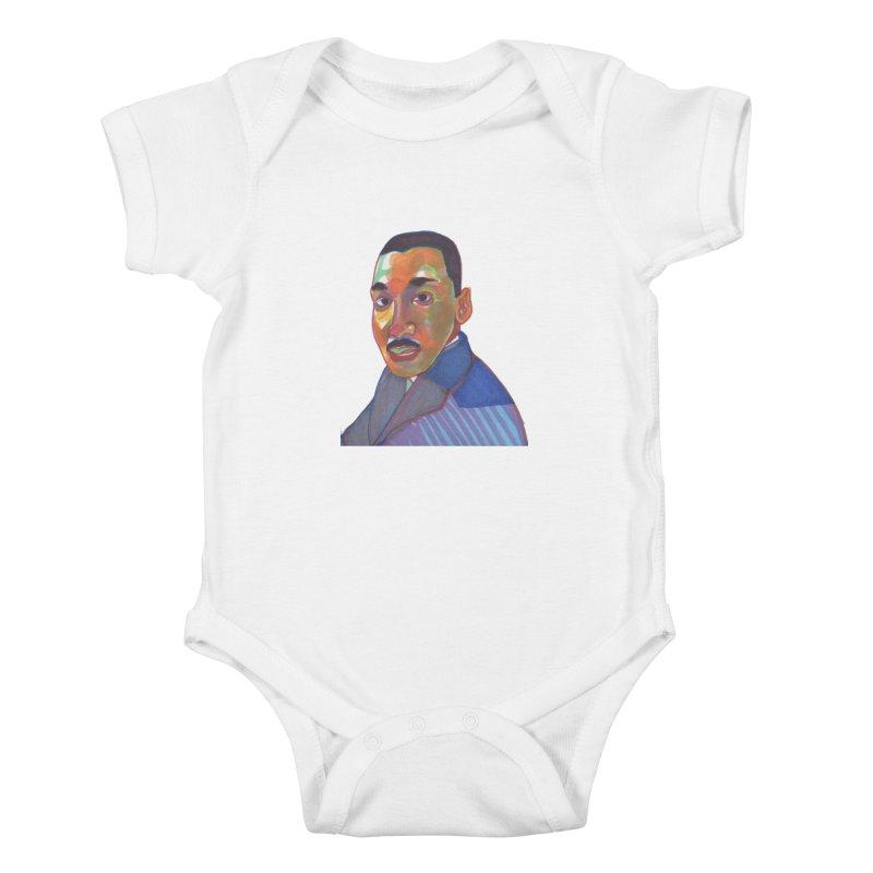 MLK Kids Baby Bodysuit by birdboogie's Artist Shop