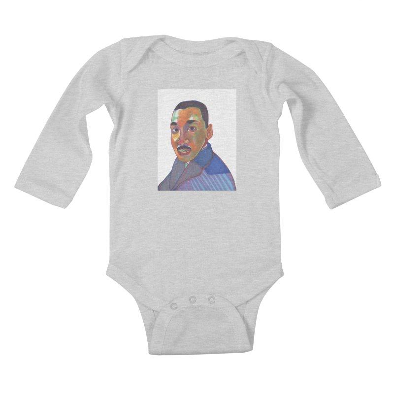 MLK Kids Baby Longsleeve Bodysuit by birdboogie's Artist Shop