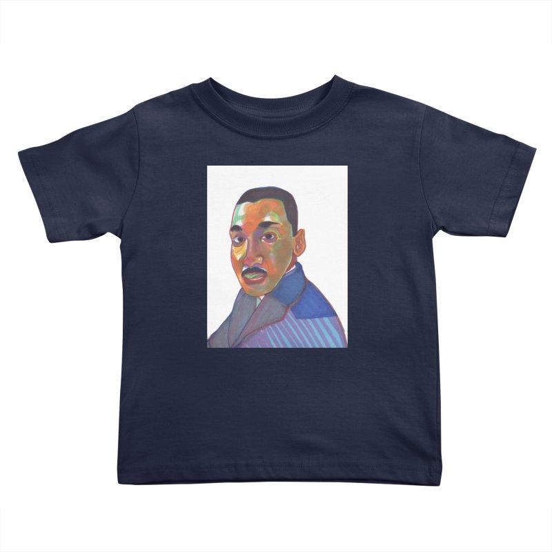MLK Kids Toddler T-Shirt by birdboogie's Artist Shop